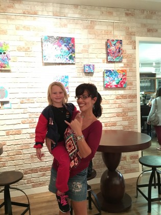 my niece Elly Moon and me at the opening reception